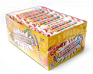 Giant Jumbo Smarties-36ct-Individually Wrapped Smarties with Counter Top Box by Smarties Candy