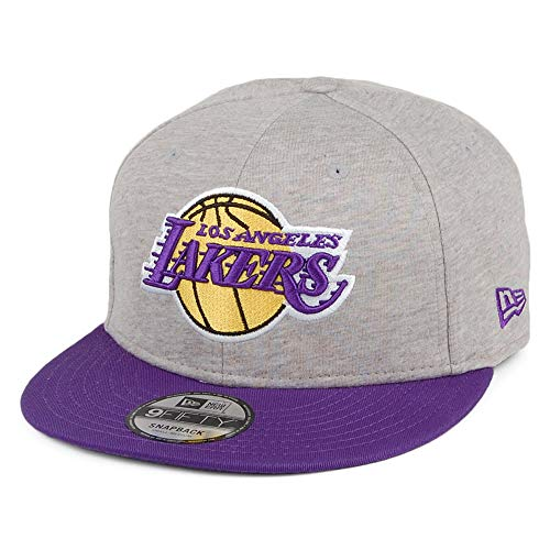 New Era Gorra Snapback 9FIFTY NBA Jersey Essential L.A. Lakers Gris-Mo
