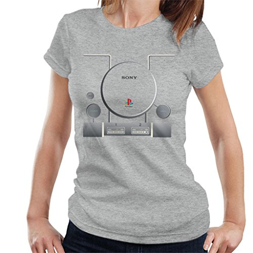 Cloud City 7 Playstation Gaming Console Women's T-Shirt Heather Grey
