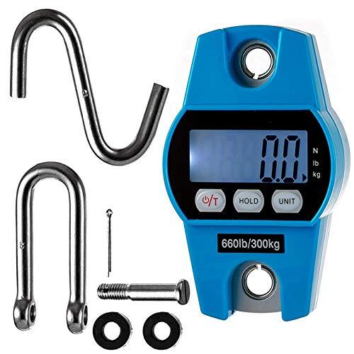 KUANDARGG Báscula De Grúa De Peso Colgante Báscula De Pesaje Digital Electrónica De 660 LB con Sensores Precisos Elevador De Pacientes Hoyer