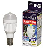 エコルクス LED電球 人感センサー E17 3.4W LDA4N‐H‐E17SV 電球色 箱1個