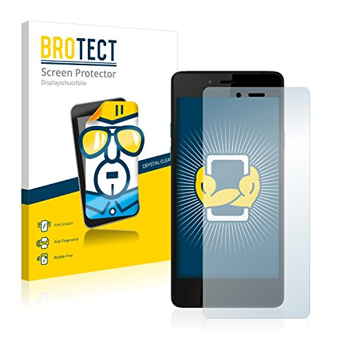 BROTECT Schutzfolie kompatibel mit Wiko Highway Pure 4G (2 Stück) klare Bildschirmschutz-Folie