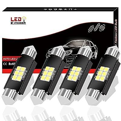 Amazon - Save 20%: LEDKINGDOMUS 578 LED Bulb White, 42mm 6500K CANBUS Error Free 6-SM…