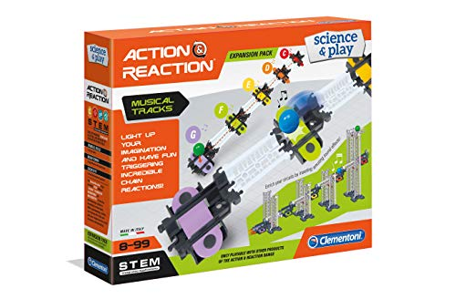 Clementoni 19166 Clementoni-19166-Science And Play-Action & Reaction-Sound Made in Italy - Set di Giocattoli per Bambini dai 6 Anni in su, Inglese