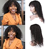 Ur Beautiful 8A pelucas de pelo humano rizado curly wigs curly human hair wigs no lace front pelucas rizado brasileñas natural color 12 pulgadas