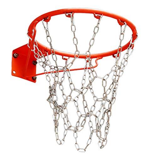 Kuinayouyi Deportes resistente de acero galvanizado cadena de baloncesto red de baloncesto baloncesto aro deportes y fitness