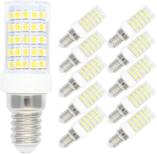 10Pack 10W Dimmerabile E14 LED Lampadine per mais, E14 LED Lampada per mais Bianco freddo 6500 K 220 V 360 gradi Angolo del fascio 80 W Alogeno Equivalente Piccola vite Edison