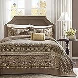 Madison Park Bellagio Bedspread Set, Oversize King, Brown/Gold