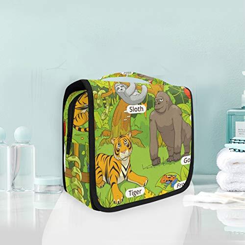 Sac cosmétique Voyage Hanging Trousse de toilette Guide des animaux Sac de rangement de voyage Portable Maquillage Pouch Sac Organizer Case pour les femmes