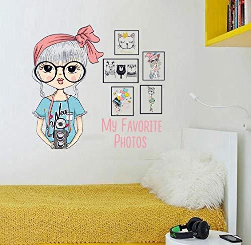 Ziruixiong Mi Foto Favorita Sala De Estar Dormitorio De Niña Extraíble Puerta Autoadhesiva Muebles Calcomanía De Pared Calcomanía Arte Decorativo Mural