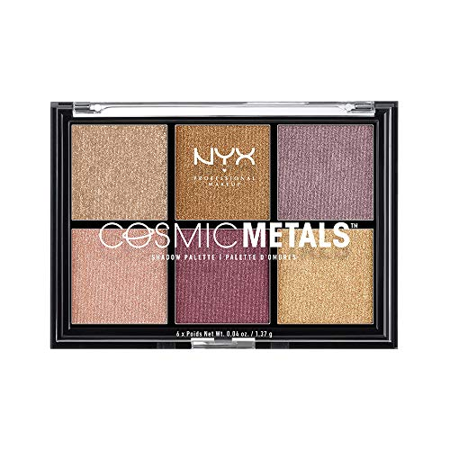 NYX Professional Makeup - Paleta de Sombras de Ojos Cosmic Metals Shadow Palette - Tono 1 Electric Color Multicolor