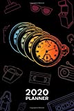 2020 PLANNER Weekly and Monthly: Retro Lover Organizer - Jan-Dec 160 Pages A5 6x9 - 60s Lovers Diary Grandfather Gift Idea Journal Notebook 60s Party Calendar - Retro Clock Gift for Men & Women