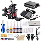 Stigma Tattoo Kit Coil Tattoo Machine Guns Power Supply 5 Inks Disposable Needles Liner Shader Kit for Tattoo...