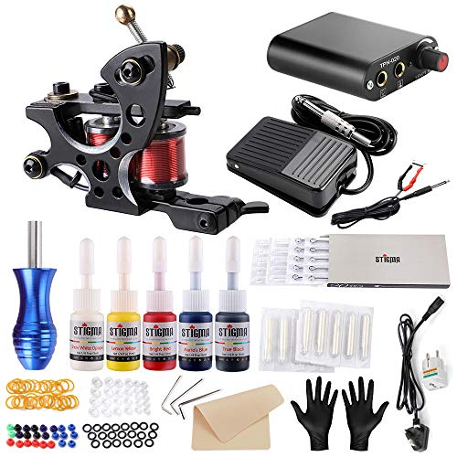 Stigma Tattoo Kit Completo Tattoo Machine Gun per Shader e Liner Alimentazione Pedale Accessori Tatuaggio Set TK-ST110