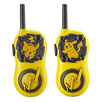 eKids Pokemon Walkie Talkies Pikachu Toys FRS Walkie Talkies for Kids Long Range Static Free Easy to Use For Indoor and Outdoor Games