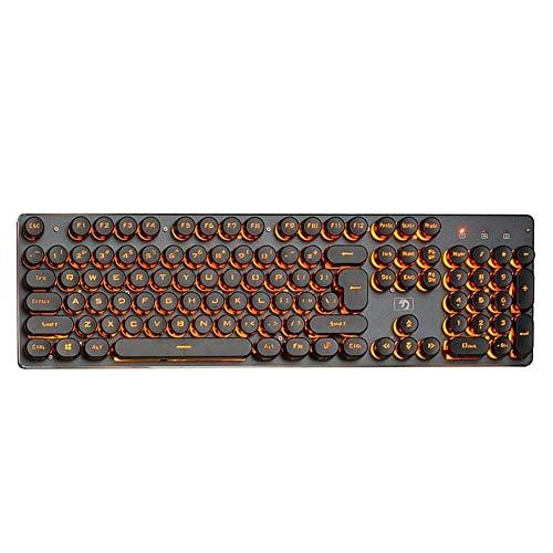 De Galen Teclas retro USB con cable teclado retroiluminado brillante para juegos de 104 teclas, teclado para ordenador portátil de promoción (Colore: azul y blanco, Spedito da : La Cina) accesorios