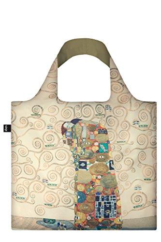 LOQI Museum Gustav Klimt The Fulfilment Einkaufstasche / Reisetasche Reise-Henkeltasche, 50 cm, Fulfillment