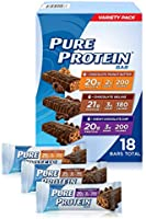 Pure Protein Bars, High Protein, Nutritious Snacks to Support Energy, Low Sugar, Gluten Free, Dessert Variety