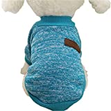 Hmeng 8 Farbe Haustier Hund Welpen klassischen Pullover Fleece Pullover Kleidung Warm Pullover Winter Mode (S, Grau)