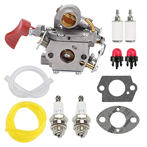 BQBS 545008042 545189502 Carburetor for Poulan Pro PP338PT PP033 PP133 PP333 Zama C1M-W44 Gas Trimmer 33cc Carb with Tune Up Kit