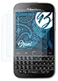 Bruni Schutzfolie kompatibel mit BlackBerry Classic Non Camera Folie, glasklare Bildschirmschutzfolie (2X)