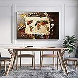 ganlanshu Mapas de Lienzo de Arte, murales con sabores, póster, Restaurante, decoración del hogar,Pintura sin Marco,50X75cm
