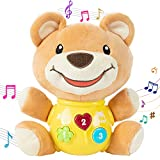 LITTLESMET Plush Bear Baby Toys - Newborn Baby Musical Toys for Baby 0 to 36 Months - Light up Baby Toys for Infants Babies Boys Girls Toddlers Baby Gifts 0 3 6 9 12 Month