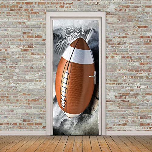 CURTAINSCSR Mural de puerta de fútbol adhesivo de pared para decoración del hogar, pegatinas de papel autoadhesivo para decoración de pared, pegatinas...