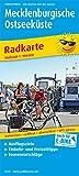 Mecklenburgische Ostseeküste: Radkarte mit Ausflugszielen, Einkehr- & Freizeittipps, wetterfest, reissfest, abwischbar, GPS-genau. 1:100000 (Radkarte / RK)