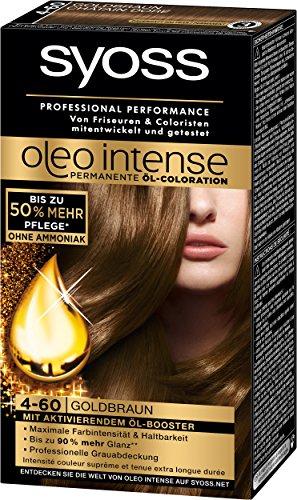 Syoss Oleo Intense Coloration 4-60 Goldbraun, 3er Pack (3 x 115 ml)