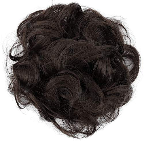 PRETTYSHOP Haarteil Haargummi Hochsteckfrisuren Brautfrisuren Voluminös Gelockt Unordentlich Dutt Braun G4A
