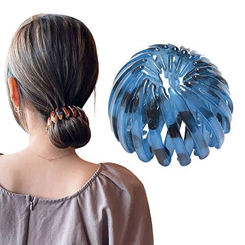 dkjawjcn Pferdeschwanz Haarnadel Haarband Mädchen Mode Kristall Haarspangen Stifte Damen Kristall Schwanz Haargummis Vogelnest Förmige Halter Clips Haarklammern Haarklammer Haarclips...