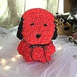 SBRTL Flor Eterna Rosa Pug Rose Bear Día de San Valentín...