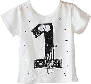 ab014b5b12569 Yying Vêtements Assortis De Famille Bébé Enfants Anniversaire T-Shirt  Toddler Fille Garçon Barboteuse Vêtements