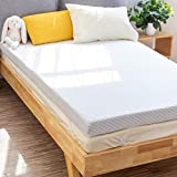 PERLECARE 3 Inch Gel Memory Foam Mattress Topper for Pressure Relief, Premium Soft Mattress Topper for Cooling Sleep, Non-Slip Design with Removable & Washable Cover, CertiPUR-US Certified - Twin