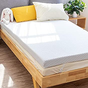 PERLECARE 3 Inch Gel Memory Foam Mattress Topper for Pressure Relief Premium Soft Mattress Topper for Cooling Sleep Non-Slip Design with Removable & Washable Cover CertiPUR-US Certified - Twin
