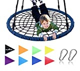 Royal Oak Giant 40' Spider Web Tree Swing, 600 lb Weight Capacity, Durable Steel Frame, Waterproof, Adjustable Ropes, Bonus Flag Set and 2 Carabiners, Non-Stop Fun for Kids!