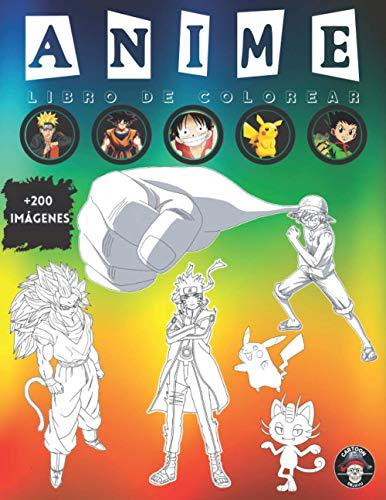 Anime Libro de Colorear: Anime Manga Colorante para Niños, Adultos y Adolescentes...
