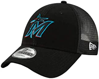 New Era 2019 MLB Miami Marlins Baseball Cap Hat Trucker Mesh 940 9Forty Florida Black/Royal