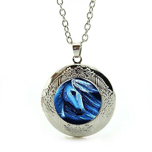 Collar con colgante de camafeo para mujer, con cadena de plata incluida, ideal para regalo