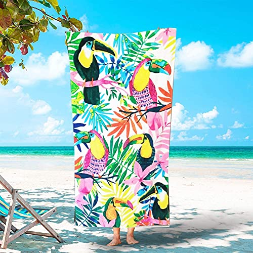 Welfic Quick Fast Drying Lightweight Super Soft Water Absorbent Towel for Beach Swimming (Pack of 1) 36 x 72 Inch (Pattern 12)