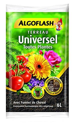 ALGOFLASH Terreau Universel, Croissance vigoureuse, Pour toutes les variétés de végétaux, 6 L,...