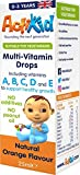 ActiKid Multi-Vitamin Drops 25ml, Gelatine Free (Vitamin Drops for Babies, Infants and Children), Immunity Boost