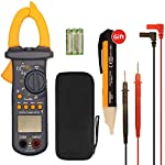 Multimeters, Digital Clamp Meter, Auto Range AC/DC Multimeter Test 6000 Counts, TRUE RMS NCV Ohm Diode Resistance Meters Measurements Test Tester, Clamp Multimeter