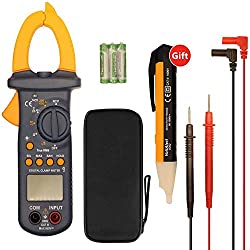 Multimeters, Digital Clamp Meter, Auto Range AC/DC Multimeter Test 6000 Counts, TRUE RMS NCV Ohm Diode Resistance Meters Measurements Test Tester, Clamp Multimeter