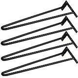 Yaheetech 4 Piezas Piernas de Mesa Patas de Horquilla Estilo Moderno 41cm de Altura Patas para Casa Oficina 16 Pulgadas