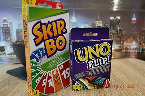 Unbekannt Legendäre Kartenspiele und Familienspiele in einem Set UNO FLIP+Skip-BO