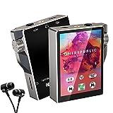 Gueray Lecteur MP3 Bluetooth 16Go avec 2,4 Pouces Écran Tactile Walkman MP4 Hi-Res 30 Heures Lecture Vidéo E-Book Fonction FM Radio et Extensible 128Go