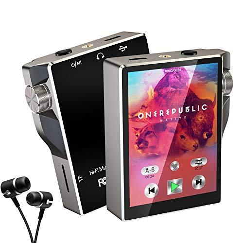 Gueray 16GB Tragbarer Bluetooth MP3 Player mit 2,4 Zoll Berührungssensitiver Bildschirm MP4 Musik Player FM Radio Sprachaufnahme Video E-Book 30 Stunden Wiedergabe Unterstützt 64GB TF Speicherkarte
