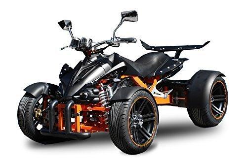 "Nitro Motors AUFGEBAUT Spy 350cc Racing Quad 14\"" 2 Pers. Autobahn Zulassung 6-Gang Manuell + Rückwärtsgang Quad ATV Racing (Metallic Blau mit Schwarzen Akzenten)"